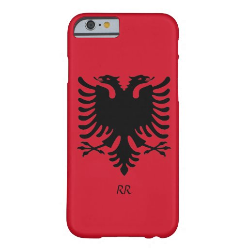 Republik- Albanienflaggen-Eagle iPhone 6 Fall Barely There iPhone 6 Hülle