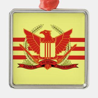 Republik der Südvietnam-Streitkraft-Flagge Quadratisches Silberfarbenes Ornament