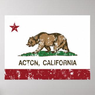 Republik-Flagge Actons Kalifornien Poster