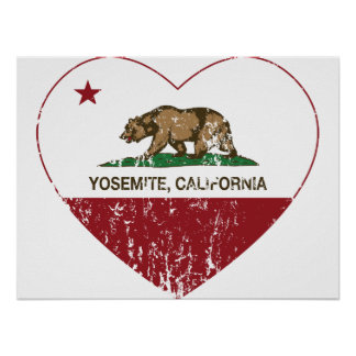 Republik-Herz Yosemite Kalifornien beunruhigt Poster