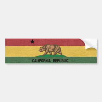 Republik Kaliforniens Rastafarian Autoaufkleber