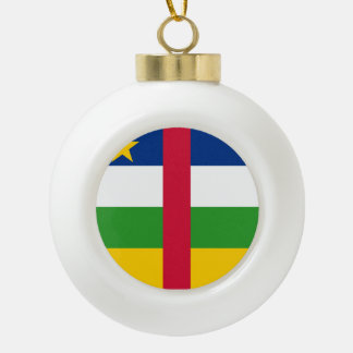 Republik- Zentralafrikaflagge Keramik Kugel-Ornament
