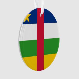 Republik- Zentralafrikaflagge Ornament