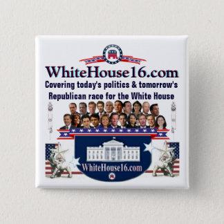 Republikaner-BewerberButton des Haus-2016 Quadratischer Button 5,1 Cm