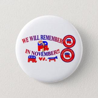 Republikaner erinnern sich im November an Runder Button 5,1 Cm