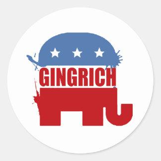 Republikaner für Gingrich Runder Aufkleber