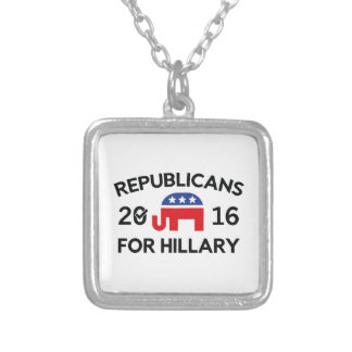 Republikaner für Hillary Versilberte Kette