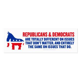 Republikaner-und Demokrat-Karten Visitenkarten