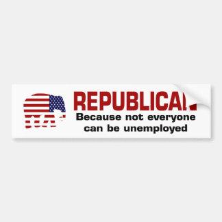 Republikanisch - arbeitsloser Autoaufkleber
