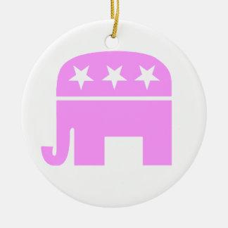 Republikanische Frauen-rosa Keramik Ornament