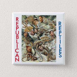 Republikanische Reptilien 2016 Quadratischer Button 5,1 Cm