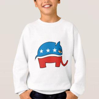 Republikanischer Cartoonelefant Sweatshirt