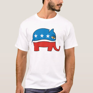 Republikanischer Cartoonelefant T-Shirt