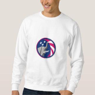 Republikanischer Elefant-Maskottchen Sweatshirt