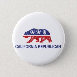 Republikanischer politischer Bär Kaliforniens Runder Button 5,1 Cm