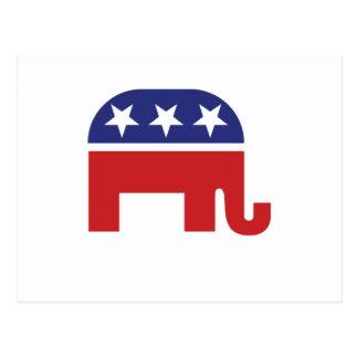 Republikanischer ursprünglicher Elefant Postkarte