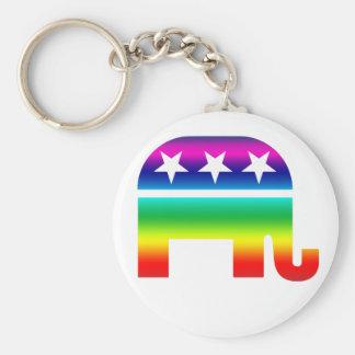 Republikanischer ursprünglicher Elefant-Regenbogen Schlüsselanhänger
