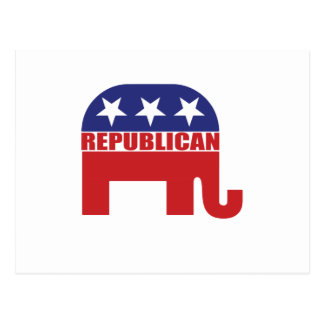 Republikanisches Elefant-Logo Postkarte