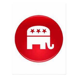 Republikanisches Party-Logo Postkarte