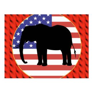 Republikanisches Party Postkarte