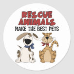 Rescue Animals Make The Best Pets Stickers