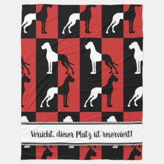Reserviert für Deutsche Doggen Fleecedecke