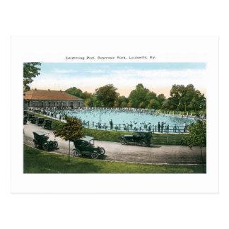 Resevoir Park, Swimmingpool, Louisville, KY Postkarte