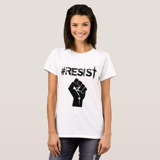 "#Resist ""Anti-Trumpf"" politischer Knopf T-Shirt"