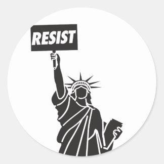 Resist_for_Liberty Runder Aufkleber