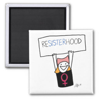 Resisterhood Zeichenmagnet Quadratischer Magnet