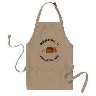 Respect for ALL life - vegetarian mouse Schürzen