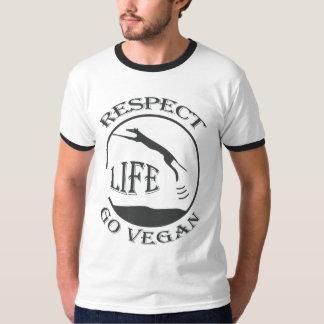 RESPECT LIFE - GO VEGAN - 01m Hemd
