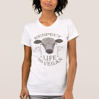 RESPECT LIFE - GO VEGAN - 01w Tshirt