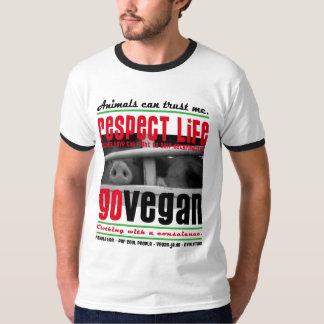 RESPECT LIFE - GO VEGAN - 02m T Shirts