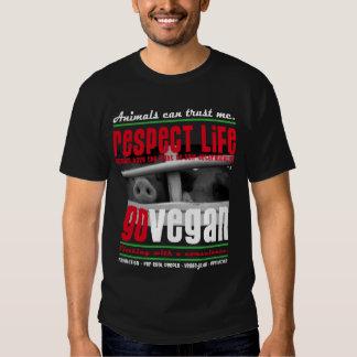 RESPECT LIFE - GO VEGAN - 04m Hemden