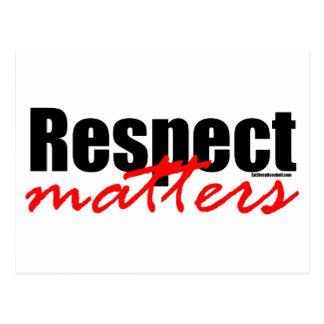 Respekt-Angelegenheiten Postkarte