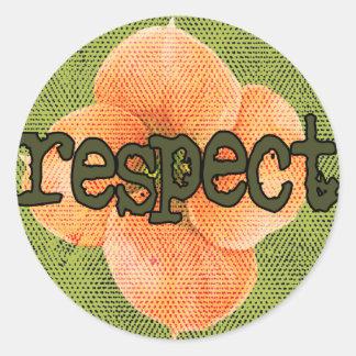 Respekt-Aufkleber Runder Aufkleber