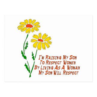 Respekt-Frauen Postkarte