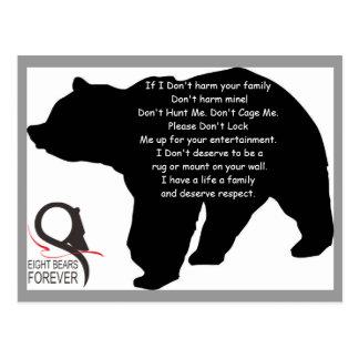 Respekt für Bären Postkarte
