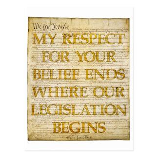 Respekt für Glauben Postkarte
