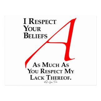 Respekt-Glaube Postkarte