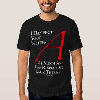 Respekt-Glaube T-shirt