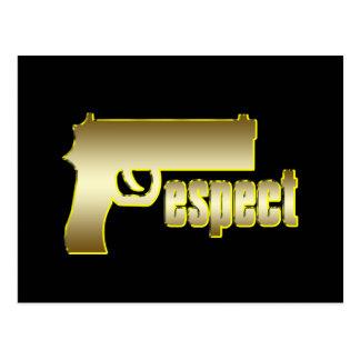 Respekt im Gold Postkarte