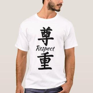 Respekt in der chinesischen Kalligraphie T-Shirt