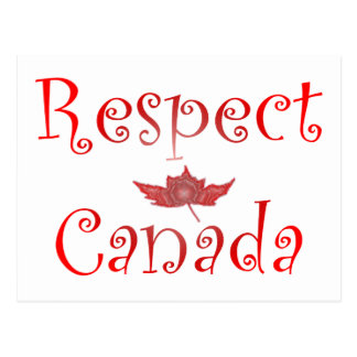 Respekt Kanada Postkarte