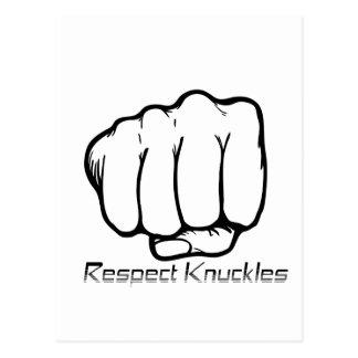Respekt-Knöchel Postkarte