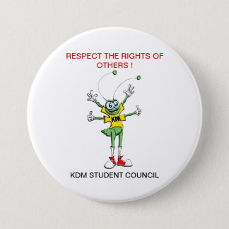 Respekt-Knopf Runder Button 7,6 Cm