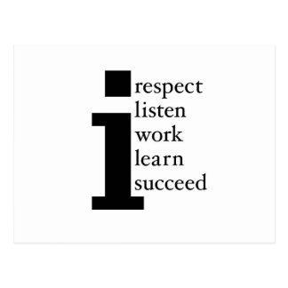 Respekt lernt folgt hört Arbeit Postkarte