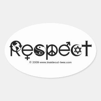 Respekt-Mutter-Erde - recyceln Sie retten den Ovaler Aufkleber