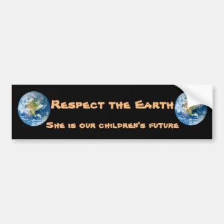 Respekt-Planeten-Erdzukunft-Autoaufkleber Autoaufkleber